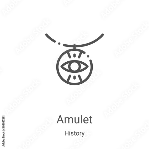 amulet icon vector from history collection Canvas Print
