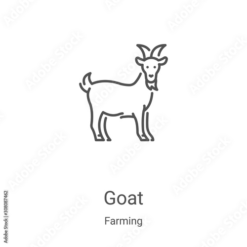 Leinwand Poster goat icon vector from farming collection