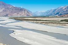 Ladakh, India - Jul 23 2019 - Beautiful Scenic View From Nubra Valley In Ladakh, Jammu And Kashmir, India.