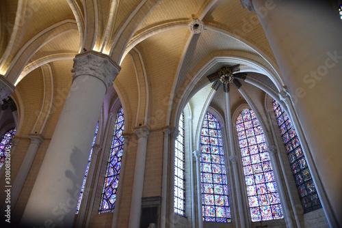 Voûtes gothiques de la cathédrale de Chartres, France