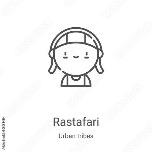 rastafari icon vector from urban tribes collection Tablou Canvas