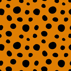 seamless pattern. abstract doodle vector. leopard skin