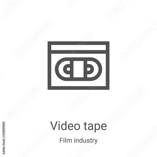 Fototapeta  video tape icon vector from film industry collection