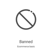 Banned Icon Vector From Ecomme...