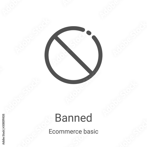 Fotografía  banned icon vector from ecommerce basic collection