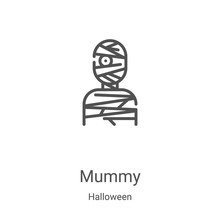 Mummy Icon Vector From Hallowe...