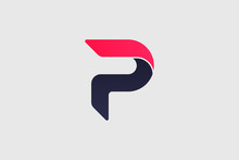 Abstract Initial Letter P Logo Design Template Element