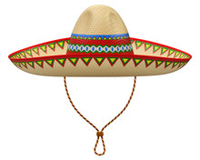 Mexican Sombrero Hat Isolated ...