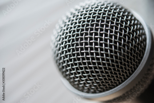 Fotografía Microphone, isolated with blurred background