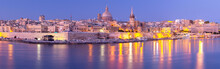 Malta. The Coastline Along Val...