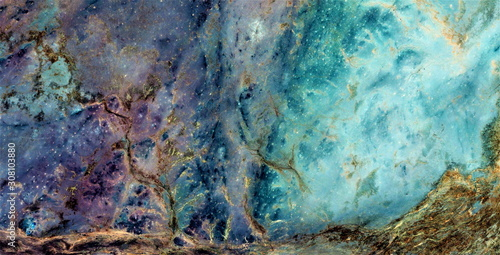 Valokuvatapetti celestial trees, abstract photography of the deserts of Africa from the air