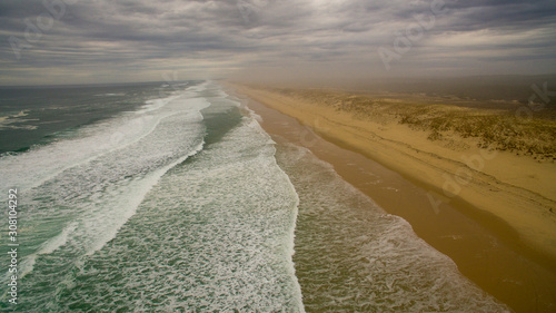 Deserted beach of the Atlantic Ocean on the Aquitaine coast Wallpaper Mural