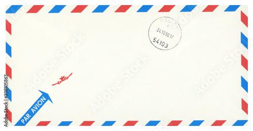 Luftpost airmail Umschlag envelope vintage retro Post Letter Brief Flugzeug gest Wallpaper Mural