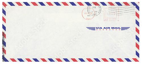 Photo Luftpost airmail USA Amerika Umschlag envelope gestempelt used vintage retro Eug