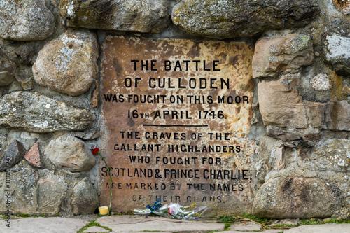 Fotografie, Obraz Battle of Culloden memorial