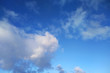 cloudscape with blue sky, abstract atmosphere background