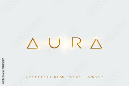 aura, a modern sans serif alphabet display font Wallpaper Mural