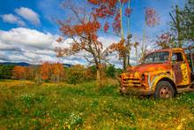 Old Truck On Farm