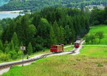 Schafberg Railway, A Gauge Cog Railway Leading From Sankt Wolfgang Im Salzkammergut Up To The Schafberg (1783 M), Austria, Europe