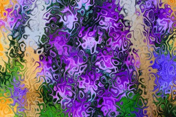 color background from distortion and abstraction from a bouquet of flowers