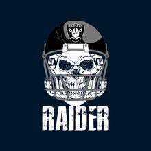 Raider Skeleton Head Wearing Helmet Illustration - VECTOR