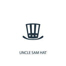 Uncle Sam Hat Creative Icon. S...