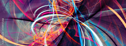 Abstract bright multicolor composition. Modern dynamic background. Fractal artwork for creative graphic design