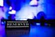 canvas print picture - Table reservation sign close up. Ready for a party
