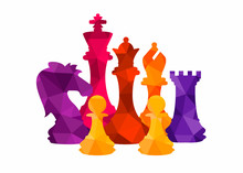 Chess Colorful Figures Pieces ...