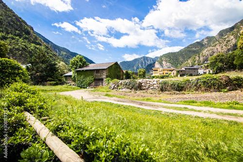 Santa Coloma d'Andorra, also known as Santa Coloma, is an Andorran town in the parish of Andorra la Vella, located near the Gran Valira river and 2 km away from the capital, Andorra la Vella Canvas Print