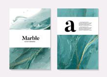Boho Aqua Menthe 2020 Design, Marble Liquid Flow In Turquiose Blue Green Colors, Ocean Flow Design Template. Grunge Texture Design For Banner, Invitation, Wallpaper, Headers, Website, Print Ads,