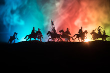 Medieval Battle Scene With Cav...