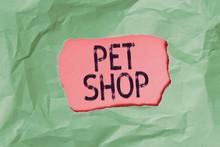 Handwriting Text Pet Shop. Con...