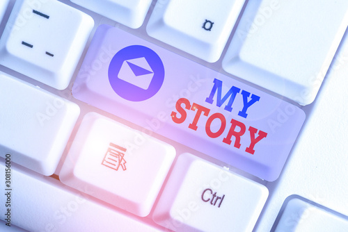 Fotografie, Tablou Word writing text My Story