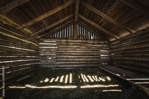 Obraz Old wooden barn in Finland countryside. - fototapety do salonu