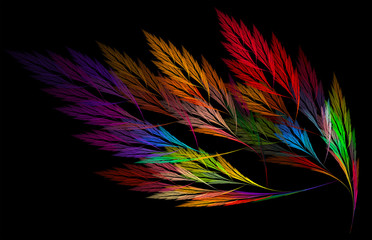 abstract background with fractal feathers