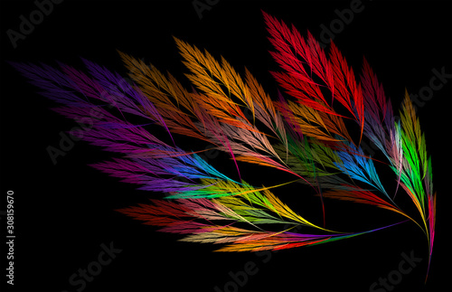 Obraz abstract background with fractal feathers - fototapety do salonu