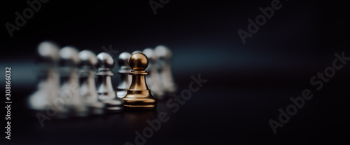 Fototapeta  Gold pawn of chess