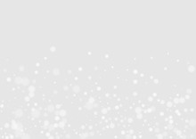 White Sky Happy Backdrop. Christmas Flake Banner. Holiday Texture. White Snow Falling Card. Snowfall Festive Postcard.