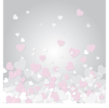 Romantic Pink White And Grey O...