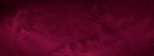 Dark Saturated Burgundy Watercolor Background With Torn Strokes And Uneven Spots. Trend Color Texture. Abstract Background For Design, Layouts And Patterns.