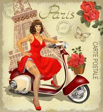 Paris Vintage Poster.Happy Pin...