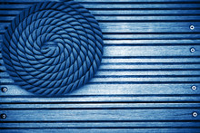 Nautical Mooring Rope Blue Toned Background