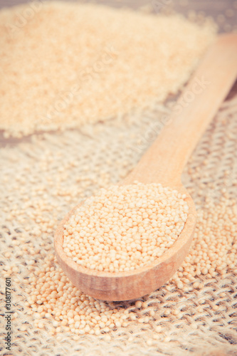 Amaranth as food containing vitamins, minerals and dietary fiber, gluten free nu Wallpaper Mural