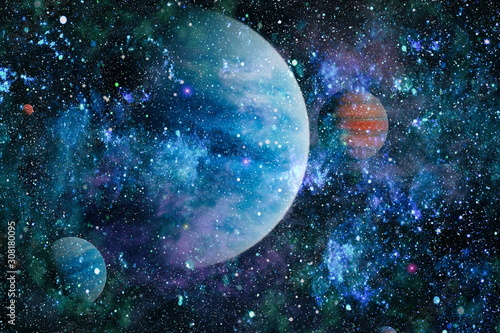 Planet - Elements of this Image Furnished by NASA - 308180095