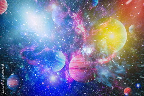 Star field in deep space many light years far from the Earth Fototapeta