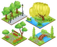 Nature Park Isometric Composit...