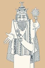 Old King man, hand drawn