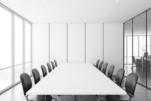 White Panel Meeting Room And O...