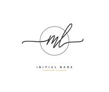 M L ML Beauty Vector Initial L...